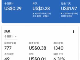 google adsense平均点击单价不到$0.01